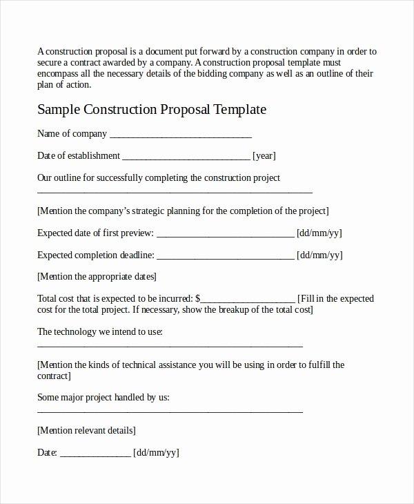 Sample Job Proposal Template Elegant Job Proposal Template 24 Free Word Pdf Document Downloads