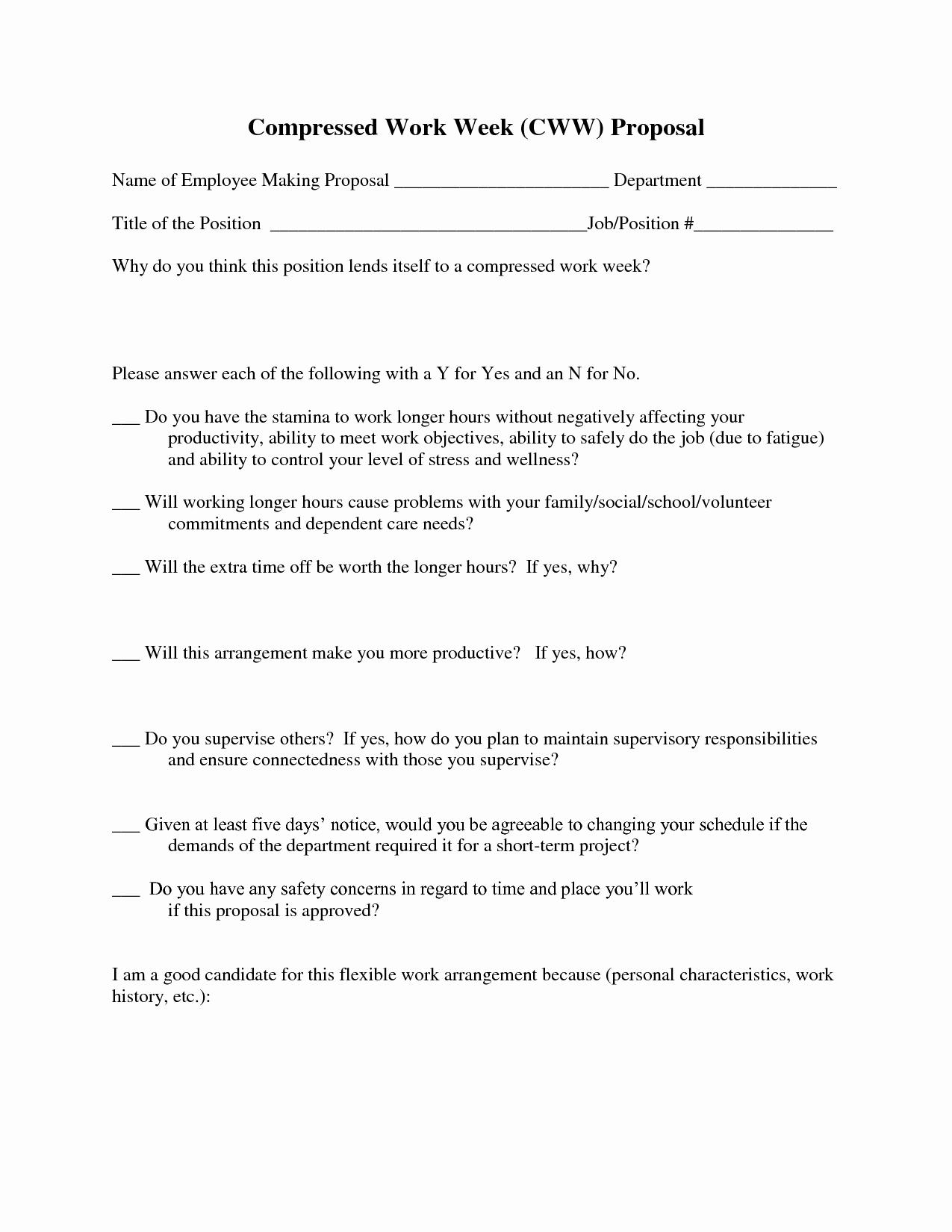 Sample Job Proposal Template Inspirational Job Proposal Template