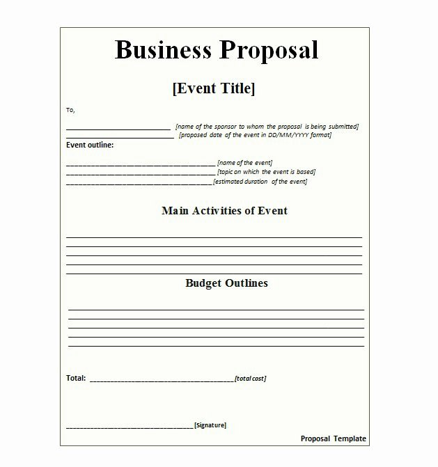 Sample Job Proposal Template Lovely 30 Business Proposal Templates & Proposal Letter Samples