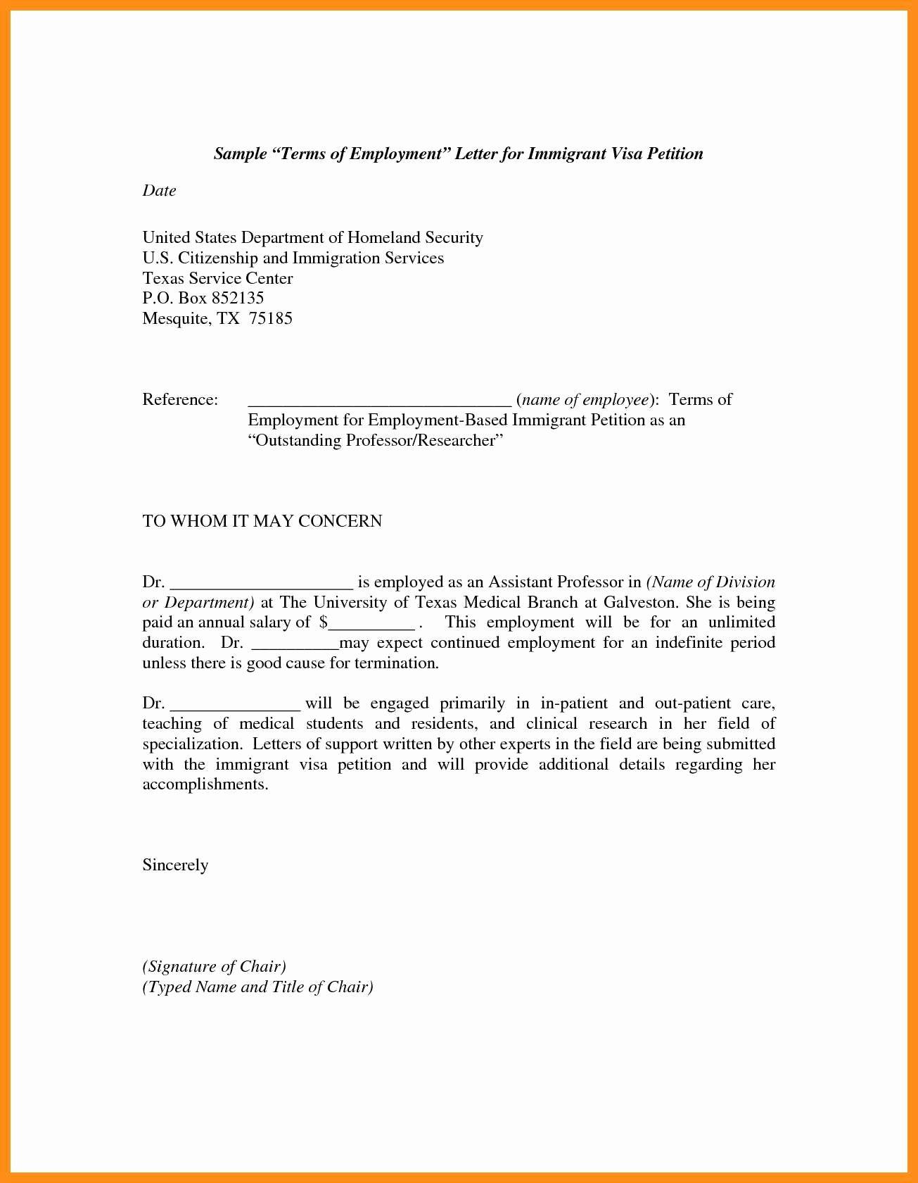 Sample Letter to Immigration Officer Unique 12 13 Immigration Letters Samples
