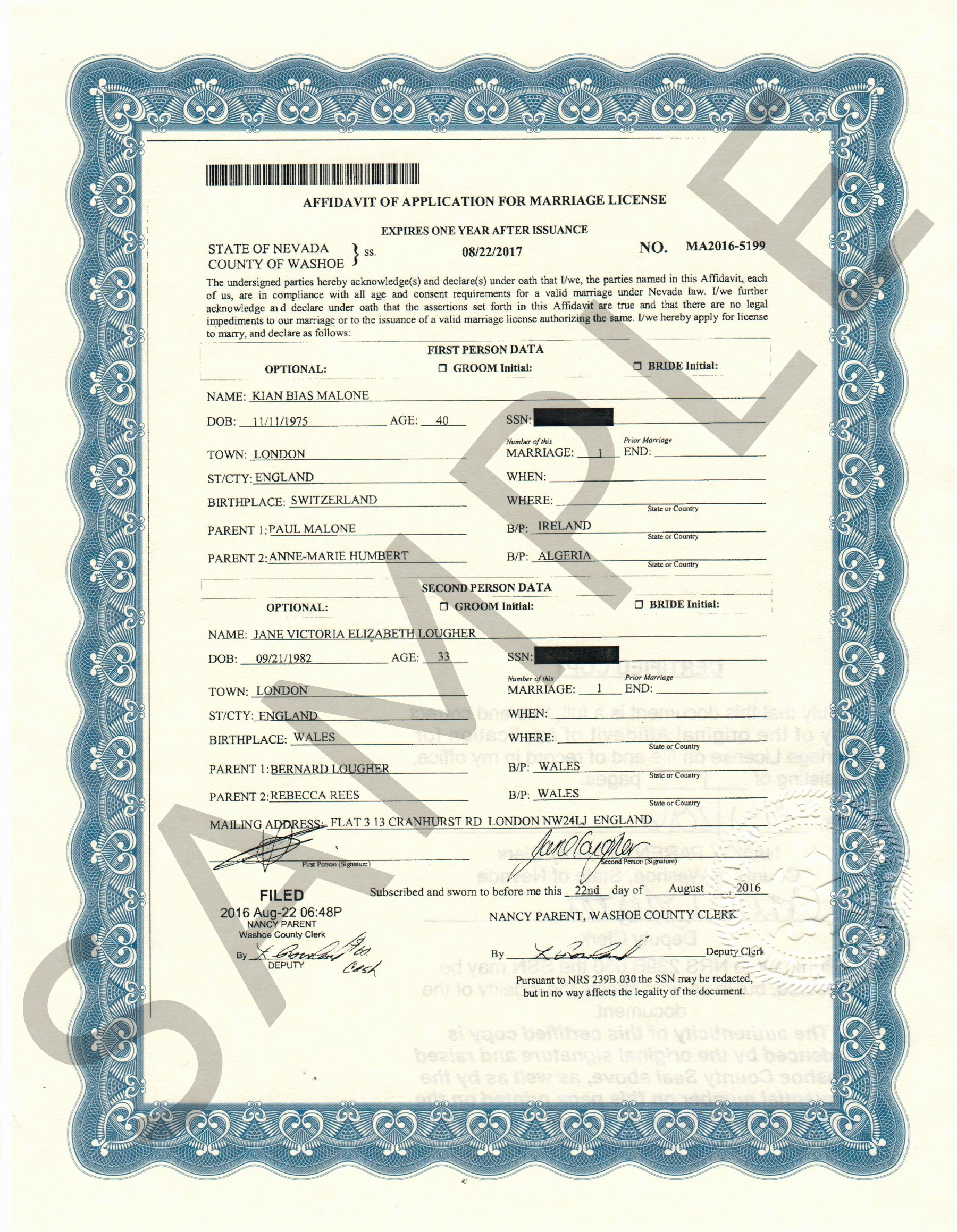 Sample Of Marriage Certificates Awesome Sample Certificates