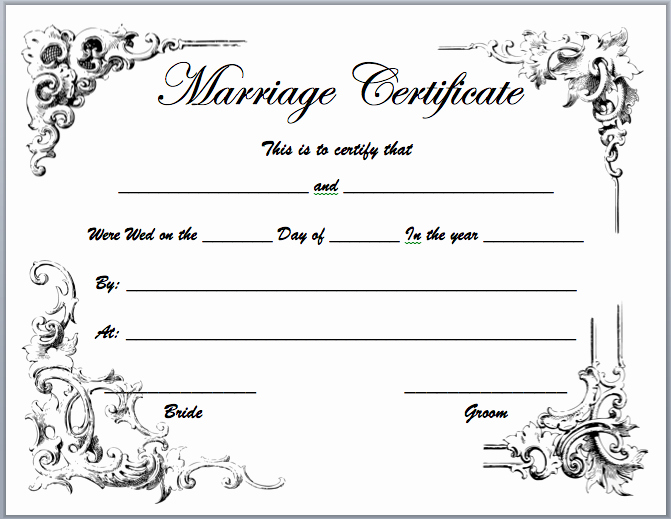 Sample Of Marriage Certificates Fresh Marriage Certificate Template Microsoft Word Templates