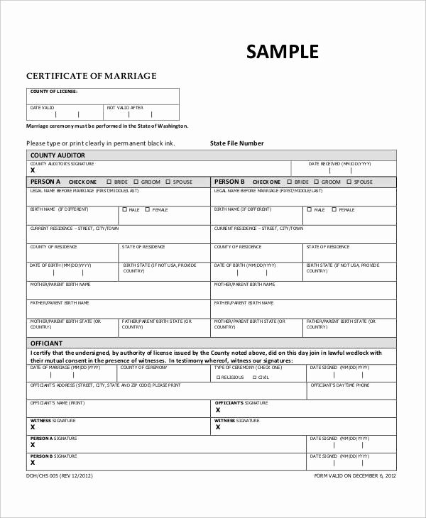 Sample Of Marriage Certificates Inspirational 29 Petition formats Pdf Doc