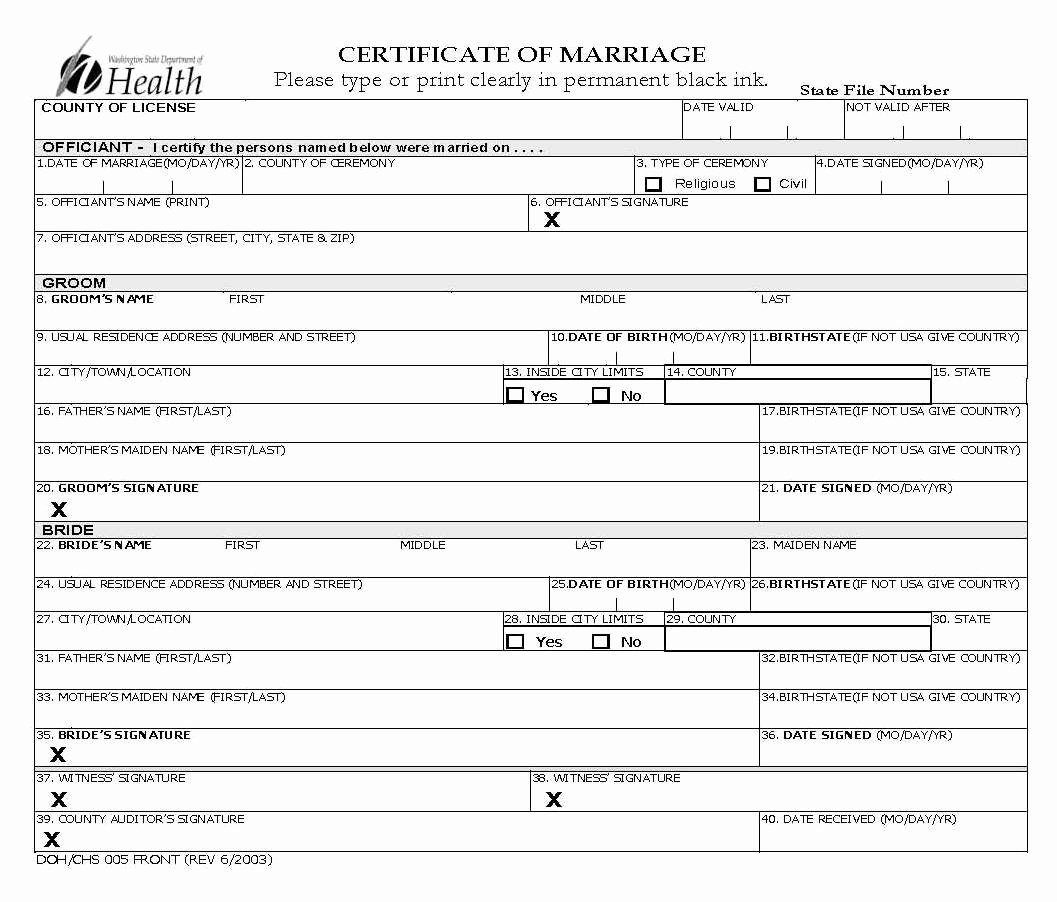 Sample Of Marriage Certificates Inspirational History Of King County Marriage Certificates 1853 to the Present King County