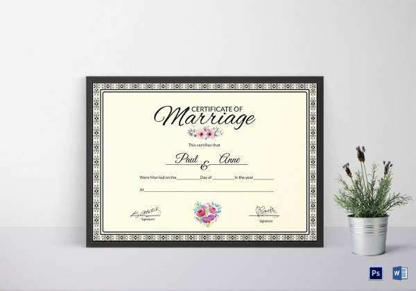 Sample Of Marriage Certificates Lovely Sample Marriage Certificate 16 Documents In Pdf Word
