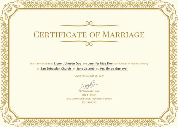 Sample Of Marriage Certificates Luxury How to Make A Certificate In Microsoft Word – Tutorial