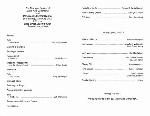 Sample Of Wedding Programme Elegant Wedding Ceremony Program Template 36 Word Pdf Psd