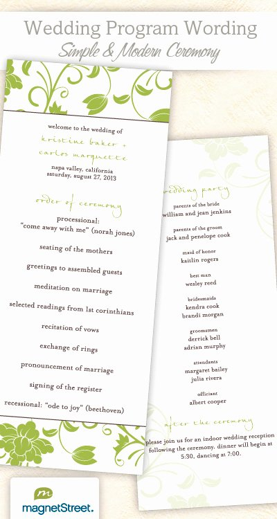 Sample Of Wedding Programme Fresh Wedding Program Wording & Templateswedding Program Wording