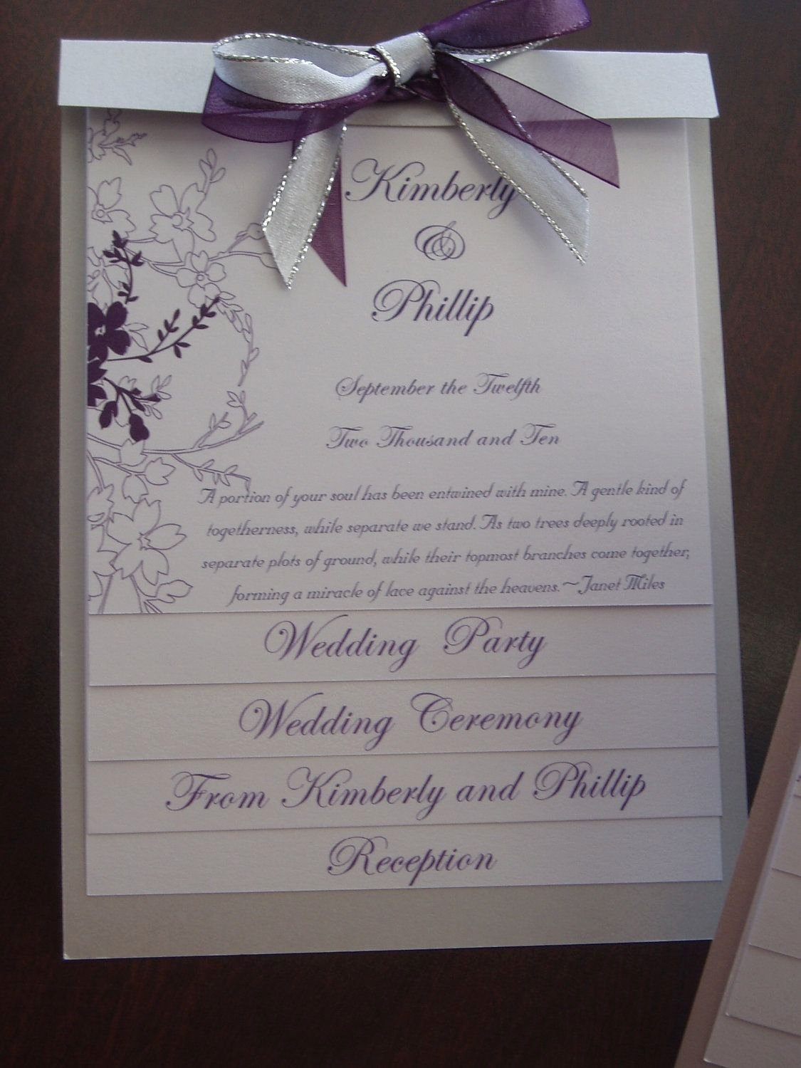 Sample Of Wedding Programme Inspirational Layered Wedding Program Sample $10 00 Via Etsy