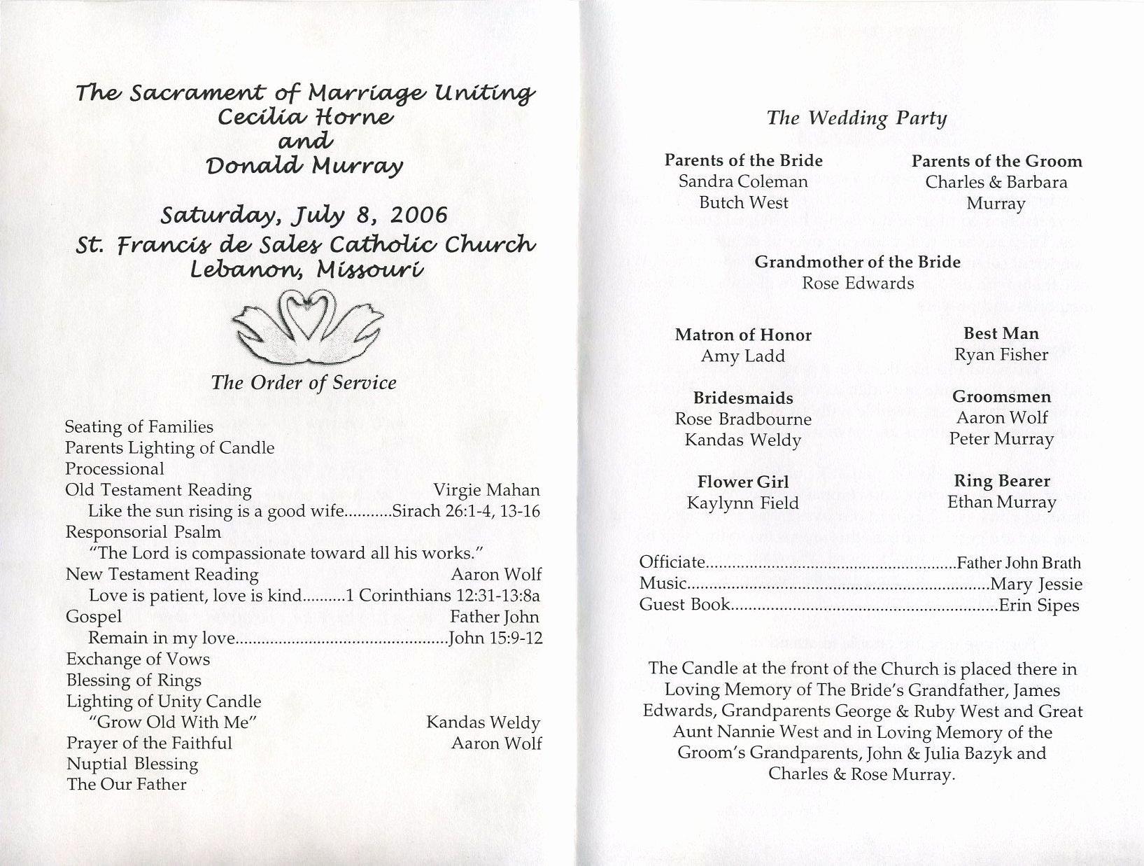 Sample Of Wedding Programme Luxury Free Printable Wedding Programs Templates