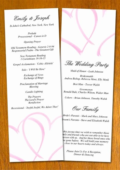 Sample Of Wedding Programme Luxury Free Wedding Program Templates