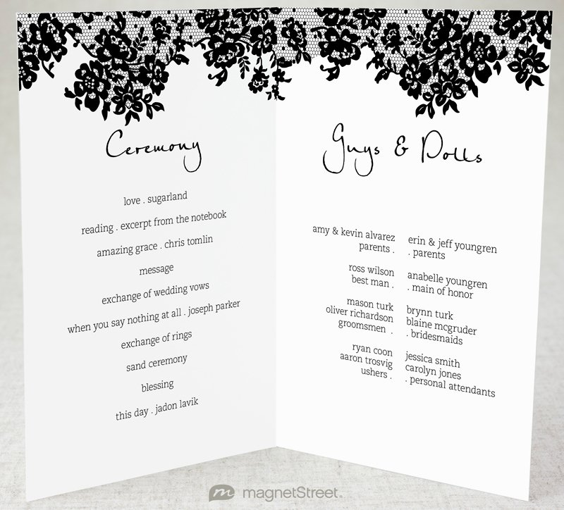 Sample Of Wedding Programs Fresh 2 Modern Wedding Program and Templates