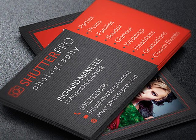 Sample Photography Business Cards New Graphy Business Card Template
