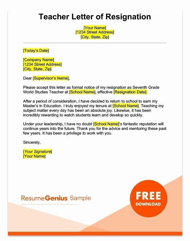 Sample Resignation Letter Nurses Lovely Career Specific Resignation Letters