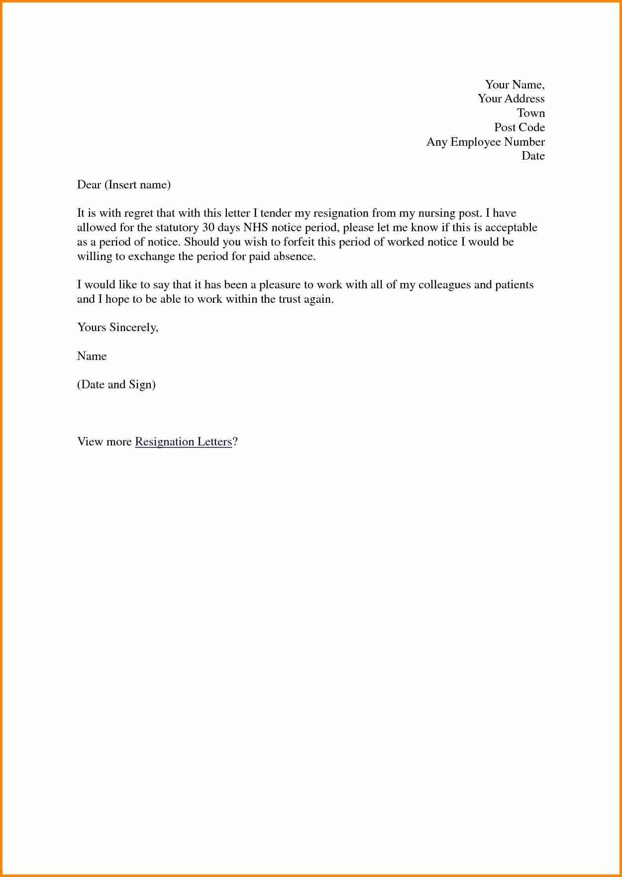 Sample Resignation Letter Nurses Unique 10 Resignation Letter for Nurses Sample