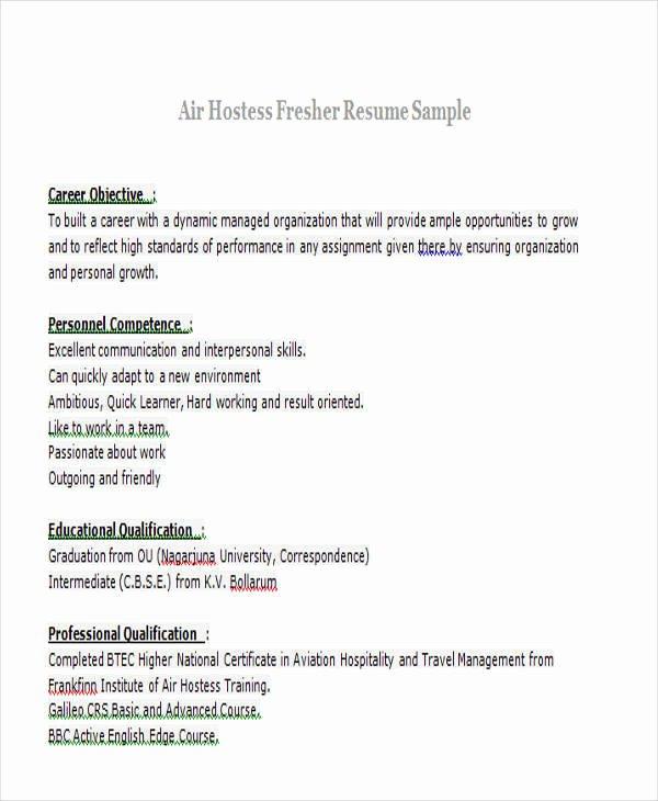 Sample Resume for Freshers Awesome 43 Professional Fresher Resumes