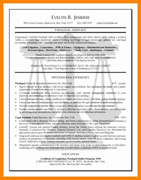 Sample Resume Legal Administrative assistant Lovely 7 Legal assistant Resume Sample