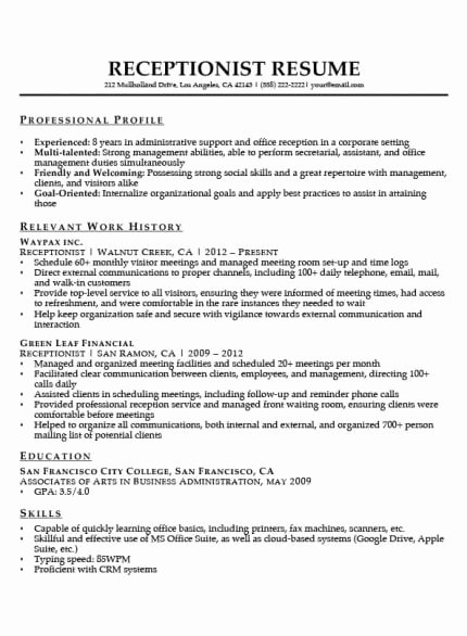 Sample Resume Legal Administrative assistant Luxury Administrative assistant Resume Example