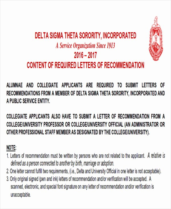 Sample sorority Recommendation Letter Beautiful Sample Re Mendation Letter for sorority Membership