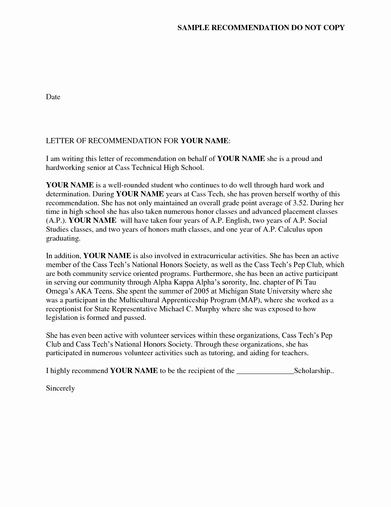 Sample sorority Recommendation Letter Fresh Reference Letter Of Re Mendation Sample