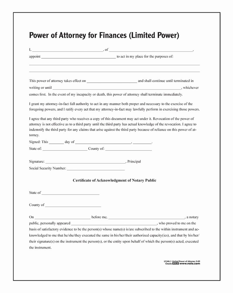 Sample Special Power Of attorney Beautiful Adams Limited Power Of attorney forms and Instructions