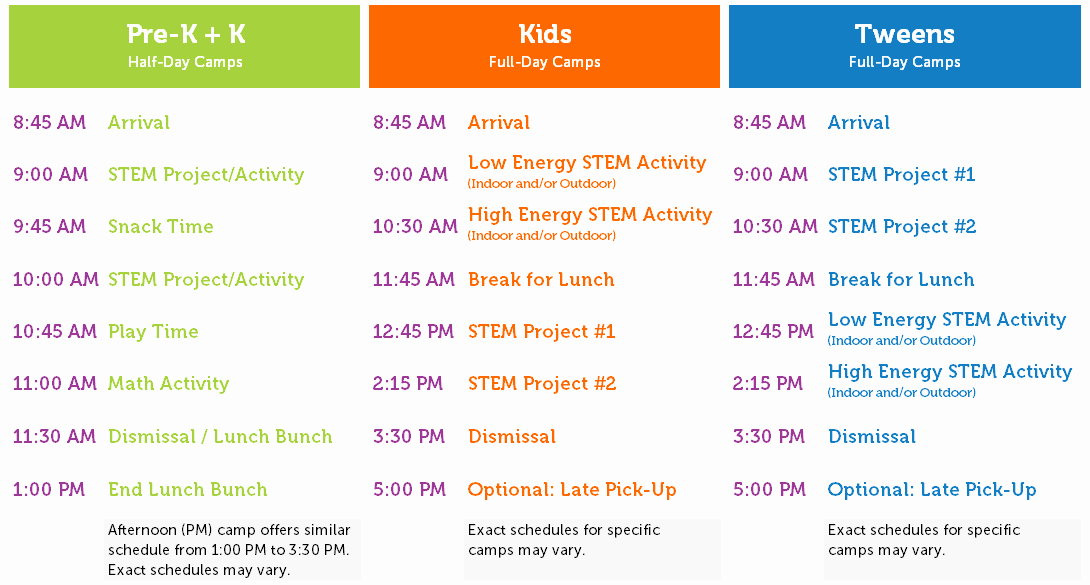 Sample Summer Camp Schedule Best Of Summer Camps Launch