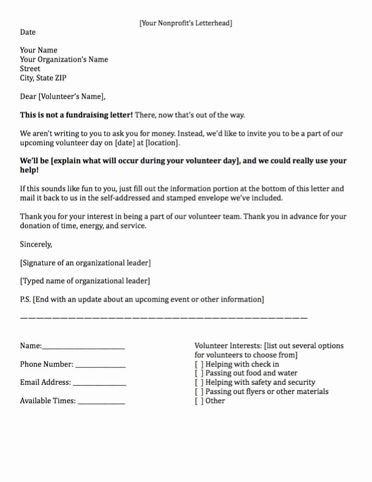 Sample Volunteer Recruitment Letter Beautiful Sample Letter asking for Volunteers – Planner Template Free