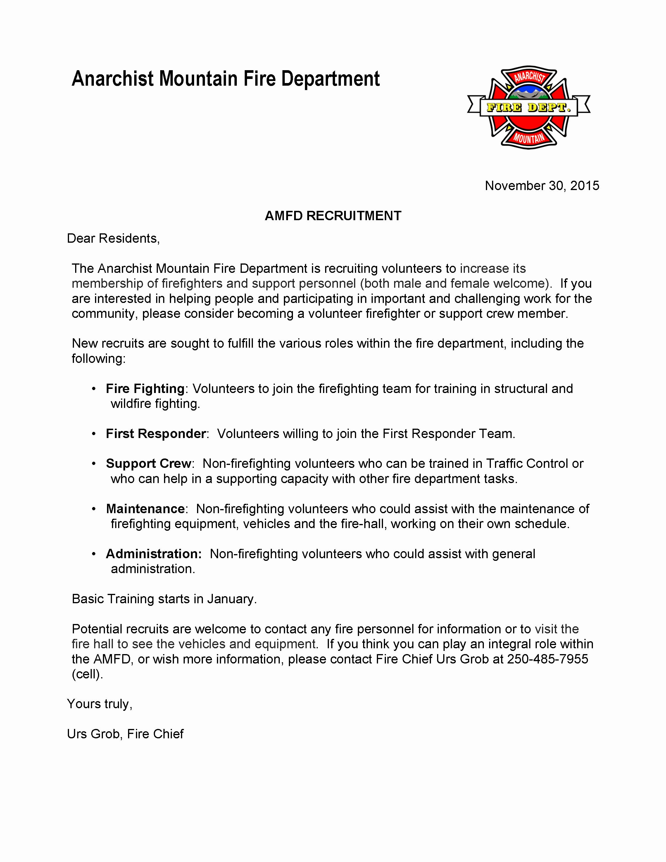 Sample Volunteer Recruitment Letter Lovely Amfd Volunteer Recruitment