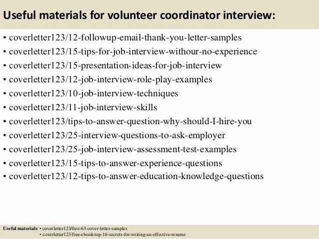 Sample Volunteer Recruitment Letter Unique top 5 Volunteer Coordinator Cover Letter Samples