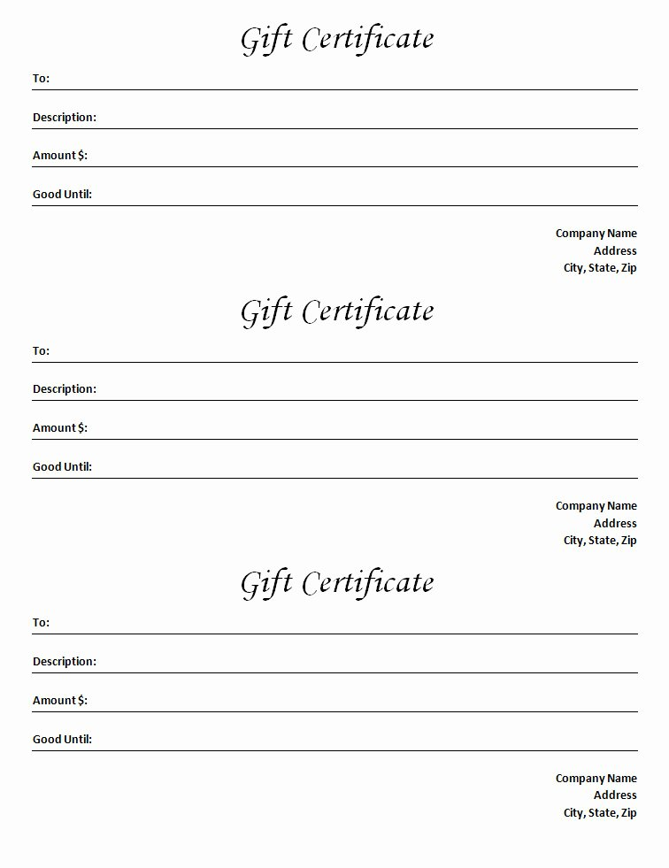 Samples Of Gift Certificate Awesome Gift Certificate Template Blank Microsoft Word Document