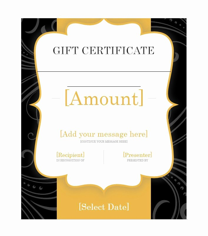 Samples Of Gift Certificate Elegant 31 Free Gift Certificate Templates Template Lab