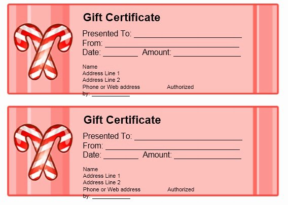 Samples Of Gift Certificate Inspirational 11 Free Sample Christmas Gift Certificate Templates Printable Samples