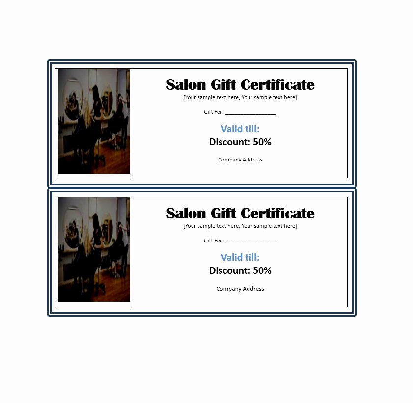 Samples Of Gift Certificate Inspirational 31 Free Gift Certificate Templates Template Lab