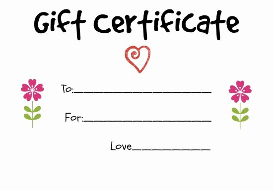 Samples Of Gift Certificate Luxury Homemade Gift Certificate Ideas to Give to A Grandparent