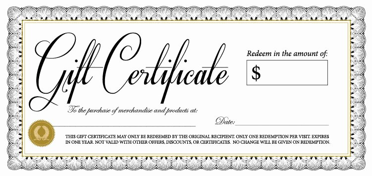 Samples Of Gift Certificate New 18 Gift Certificate Templates Excel Pdf formats