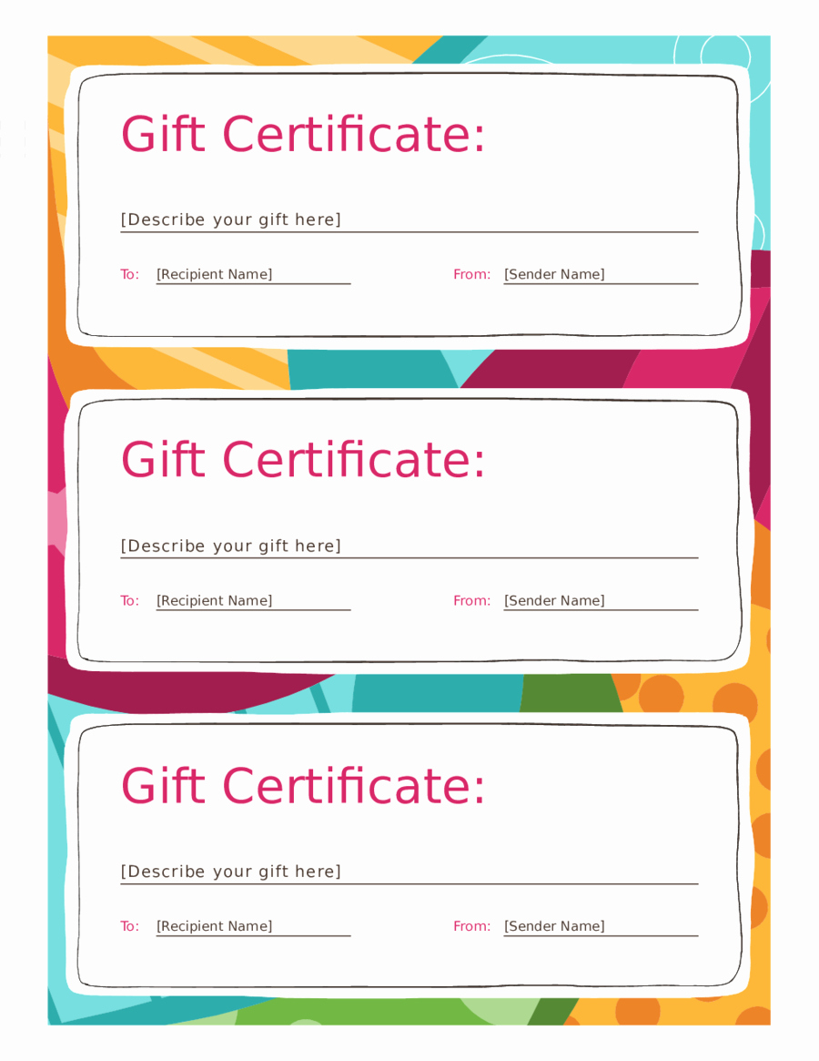 Samples Of Gift Certificate New 2019 Gift Certificate form Fillable Printable Pdf & forms