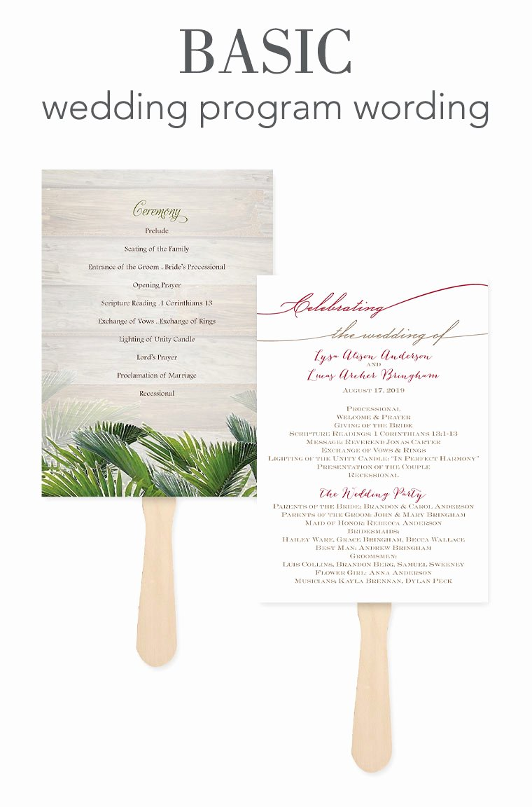 Samples Of Wedding Programs Best Of How to Word Your Wedding Programs