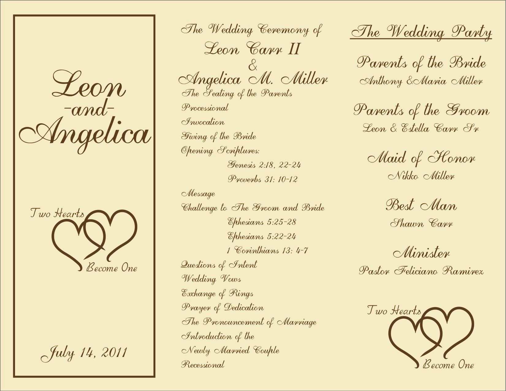 Samples Of Wedding Programs Fresh Free Printable Wedding Programs Templates