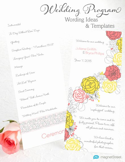 Samples Of Wedding Programs Luxury Wedding Program Wording