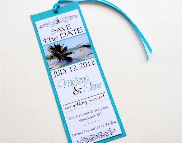 Save the Date Bookmarks Beautiful Save the Date Bookmark Template 69 Free Psd Ai Eps Pdf format Download