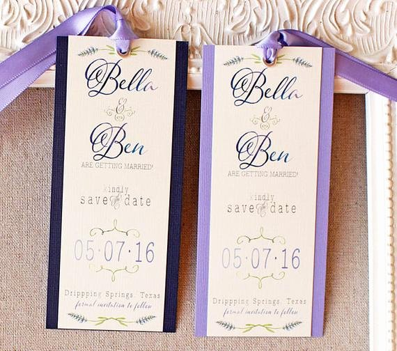 Save the Date Bookmarks Fresh Items Similar to Lavender Save the Date Bookmark Watercolor Save the Date Garden Wedding