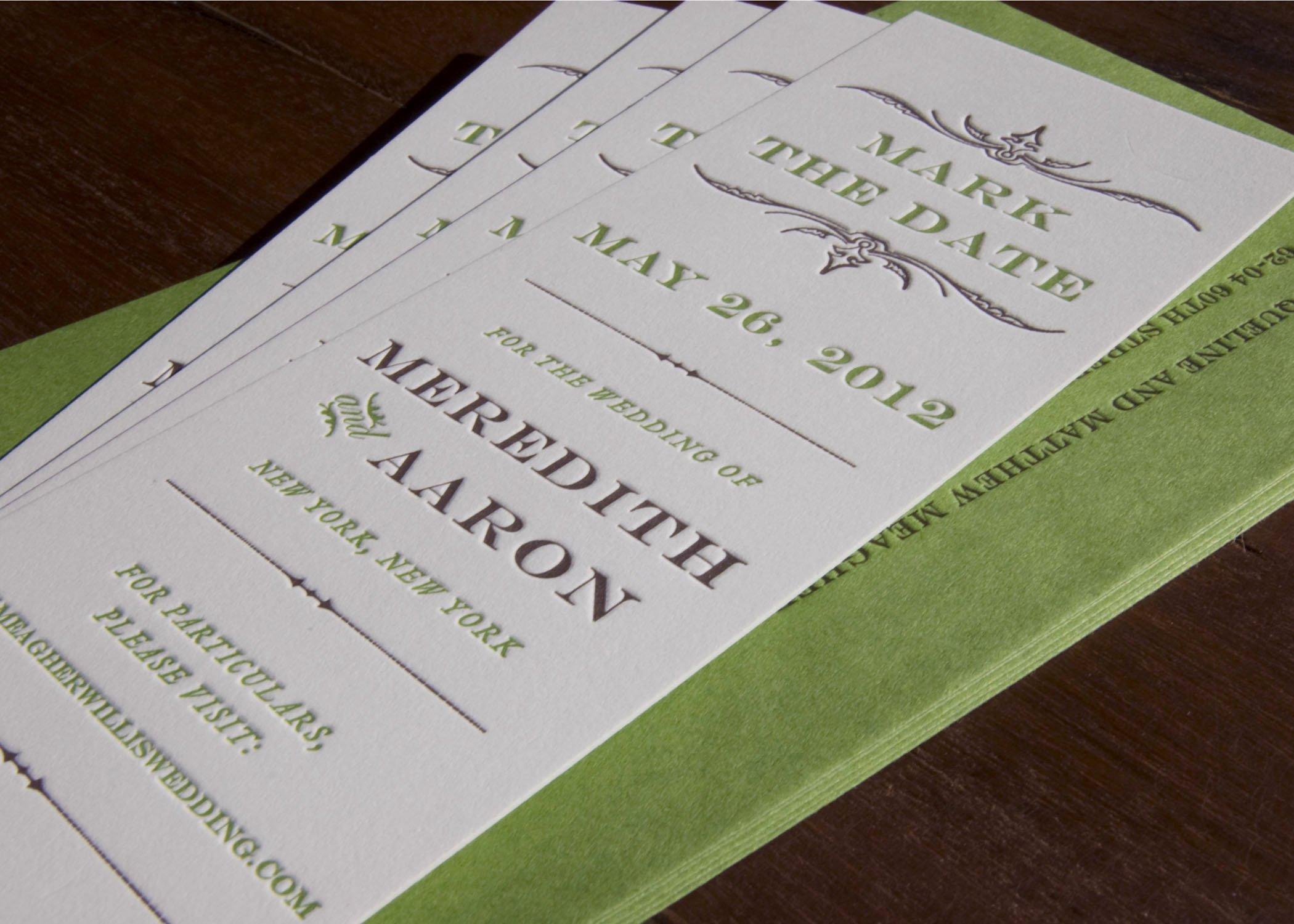 Save the Date Bookmarks Fresh Save the Date Bookmark — Sesame Letterpress Design