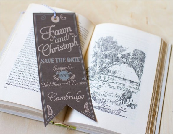 Save the Date Bookmarks Fresh Save the Date Bookmark Template 69 Free Psd Ai Eps Pdf format Download