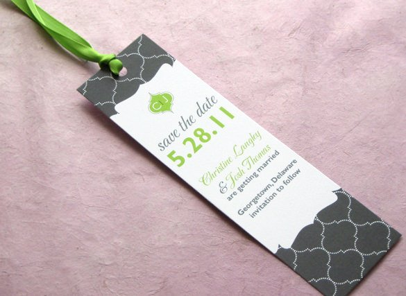 Save the Date Bookmarks Inspirational 21 Save the Date Bookmark Templates – Free Sample Example format Download
