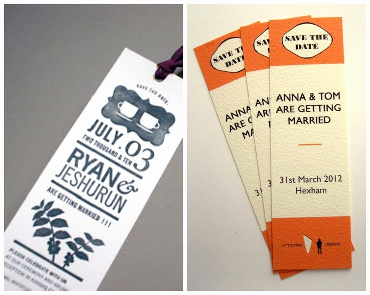 Save the Date Bookmarks Inspirational 40 Best Images About Bookmark Wedding Favors On Pinterest