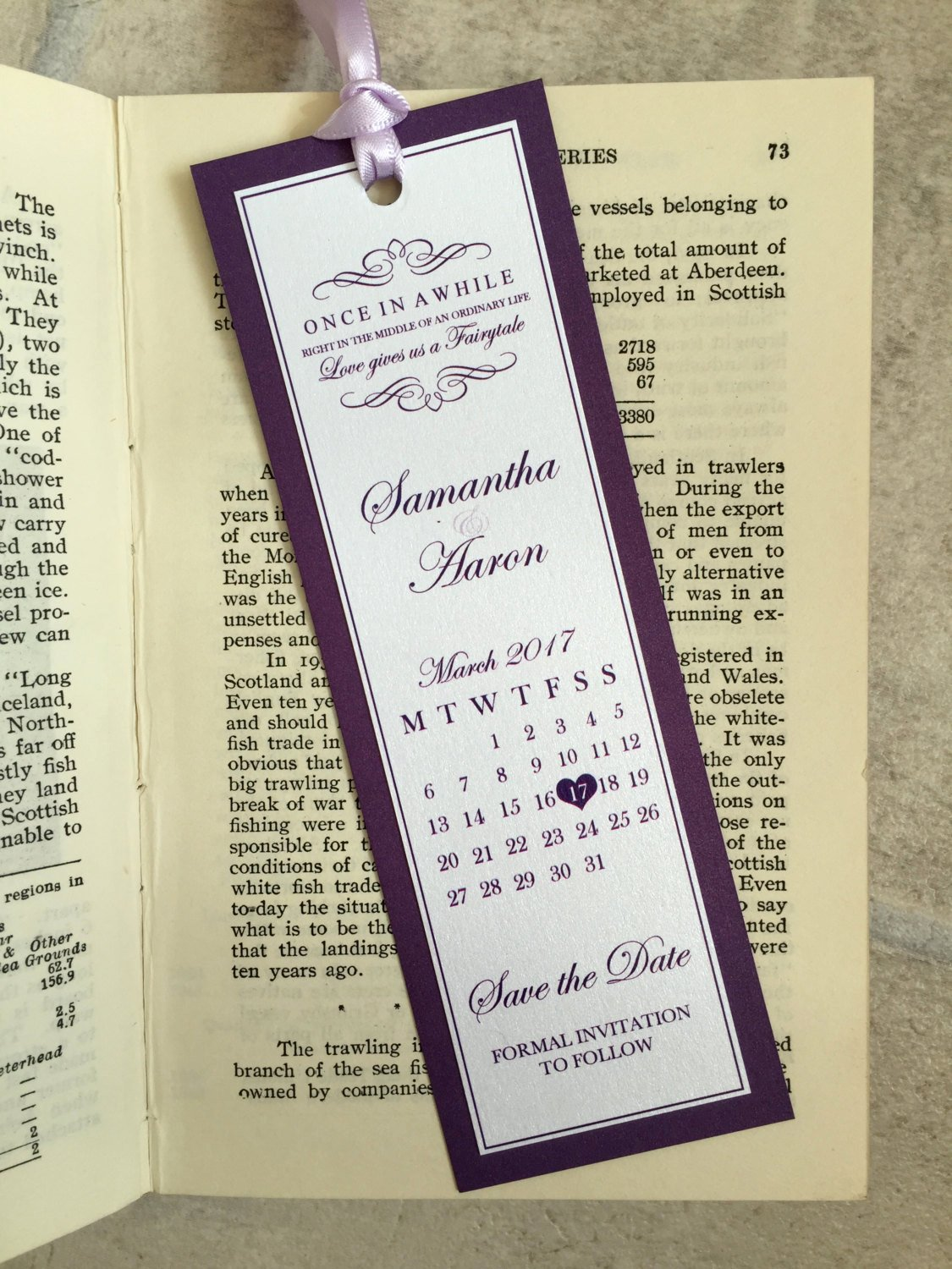 Save the Date Bookmarks New Wedding Save the Date Bookmarks