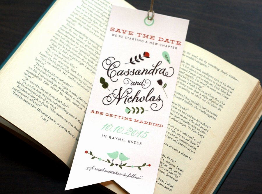 Save the Date Bookmarks Unique Bookmark Save the Date Ce Upon A Time A New Chapter