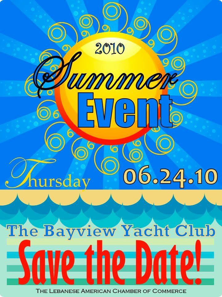 Save the Date Business event Beautiful John Akouri Newsblog Save the Date the 2010 Summer event
