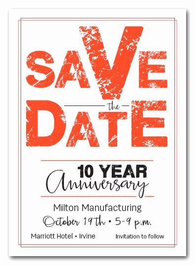 Save the Date Business event Best Of Edgy orange Business event Save the Date Cards