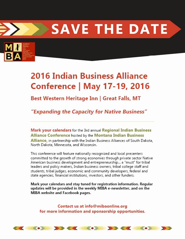 Save the Date Business event Luxury 2016 Indian Business Alliance Conferencerocky Mountain